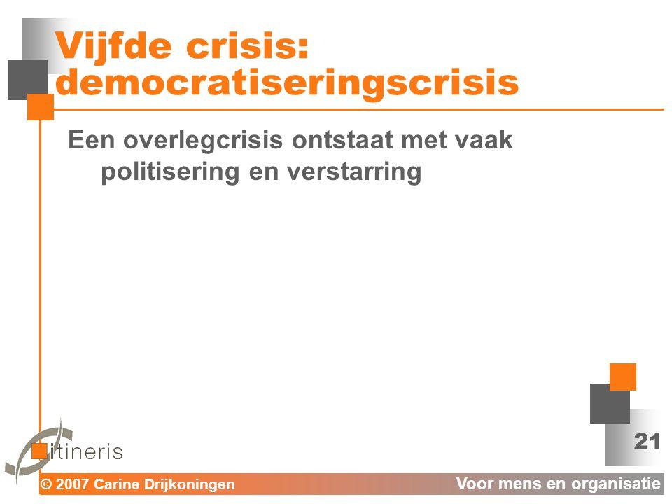 Vijfde crisis: democratiseringscrisis