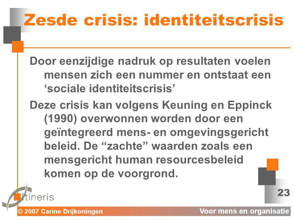 Zesde crisis: identiteitscrisis