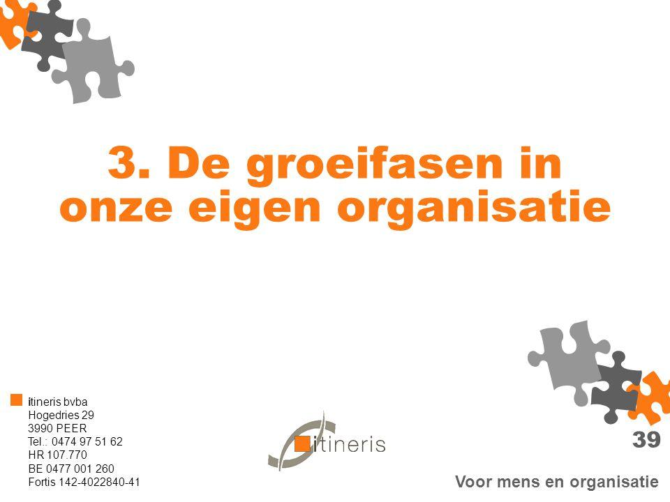 3. De groeifasen in onze eigen organisatie