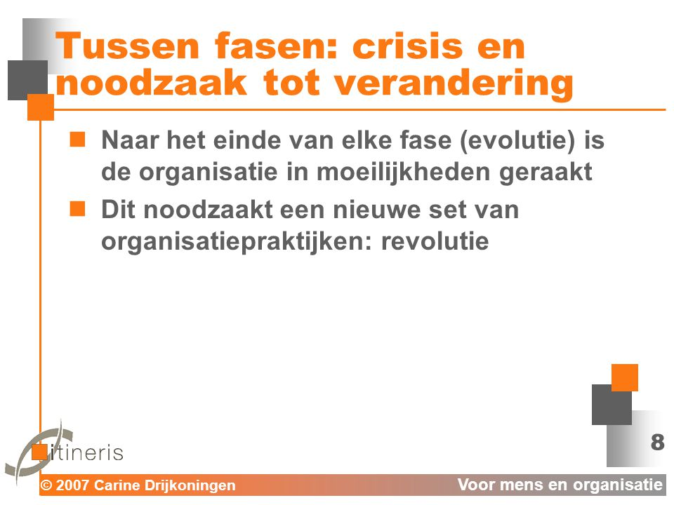 Tussen fasen: crisis en noodzaak tot verandering