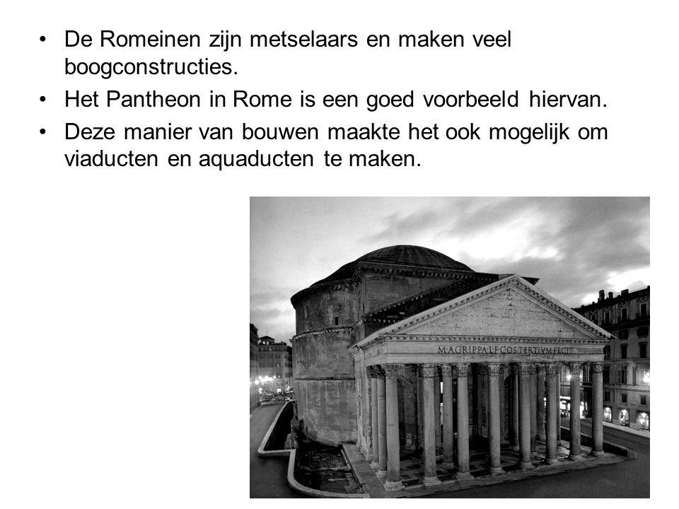 De Romeinen zijn metselaars en maken veel boogconstructies.