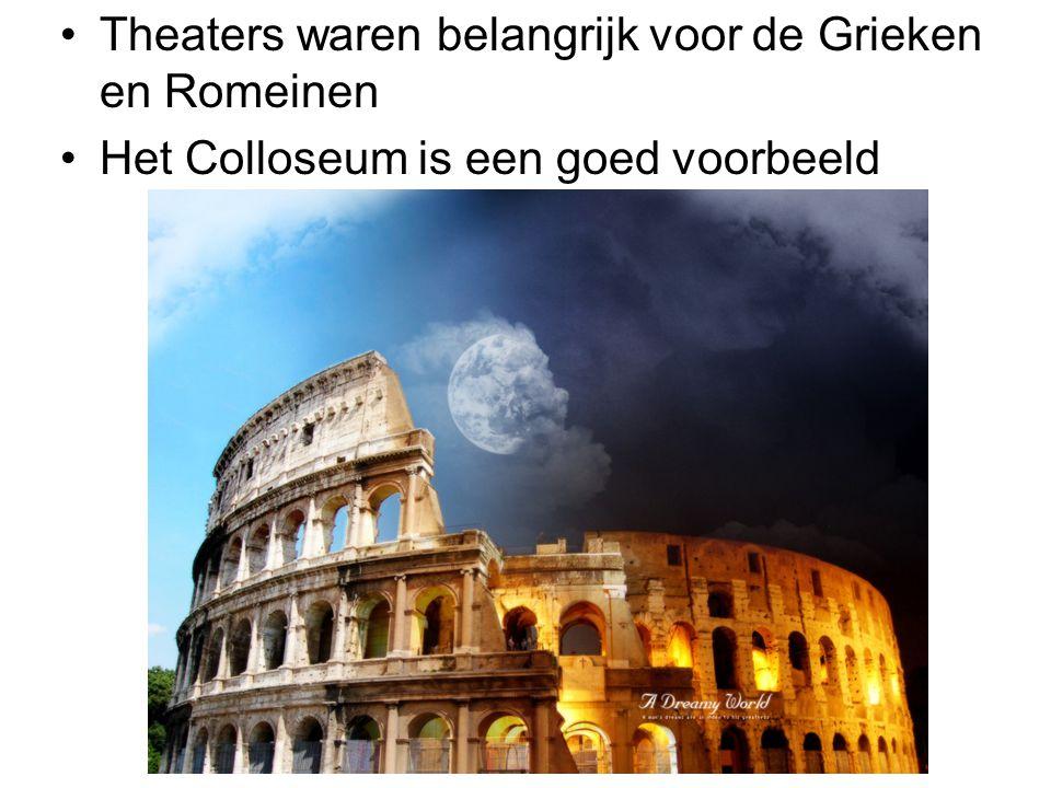 Theaters waren belangrijk voor de Grieken en Romeinen