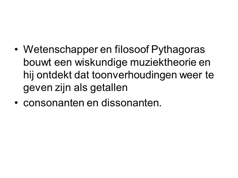 Wetenschapper en filosoof Pythagoras bouwt een wiskundige muziektheorie en hij ontdekt dat toonverhoudingen weer te geven zijn als getallen