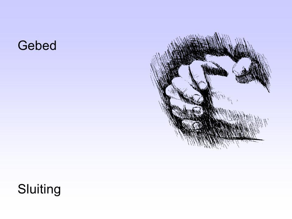 Gebed Sluiting