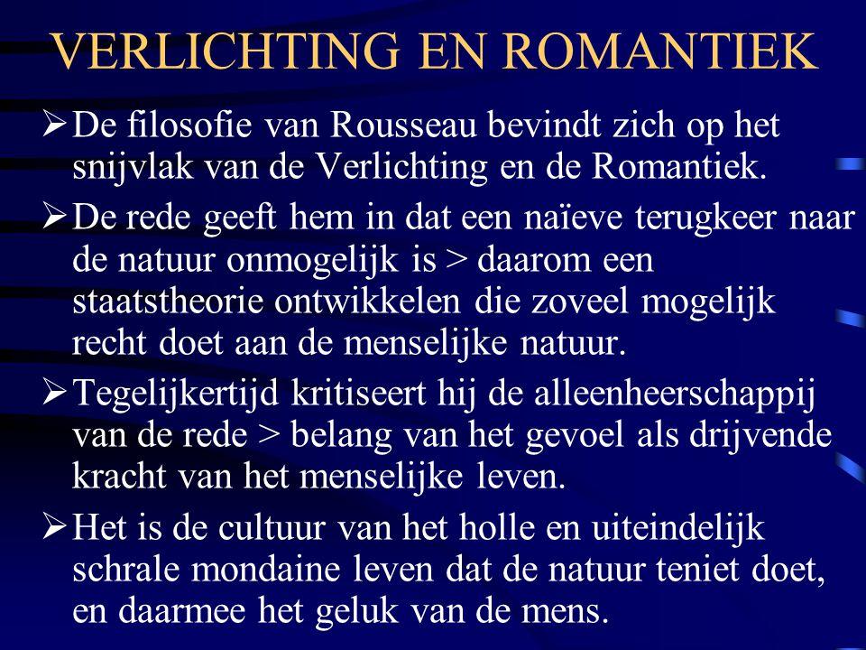 VERLICHTING EN ROMANTIEK