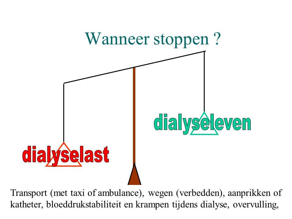 Wanneer stoppen dialyseleven dialyselast