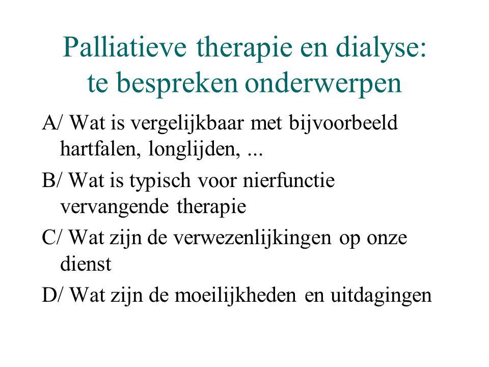 Palliatieve therapie en dialyse: te bespreken onderwerpen