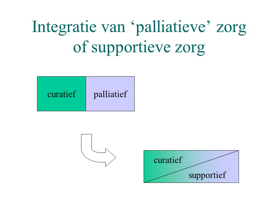Integratie van 'palliatieve' zorg of supportieve zorg