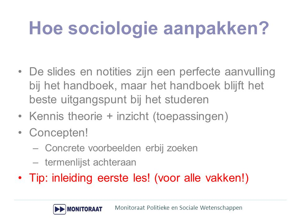 Hoe sociologie aanpakken