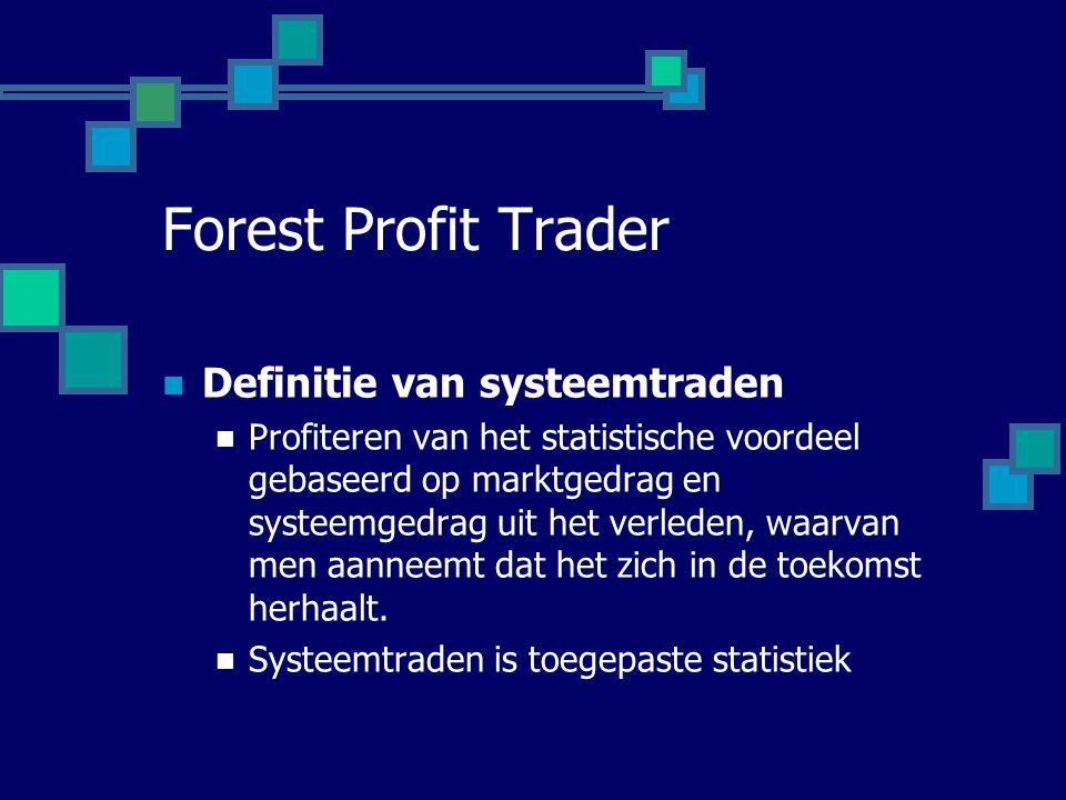 Forest Profit Trader Definitie van systeemtraden