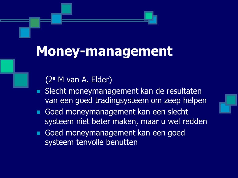 Money-management (2e M van A. Elder)