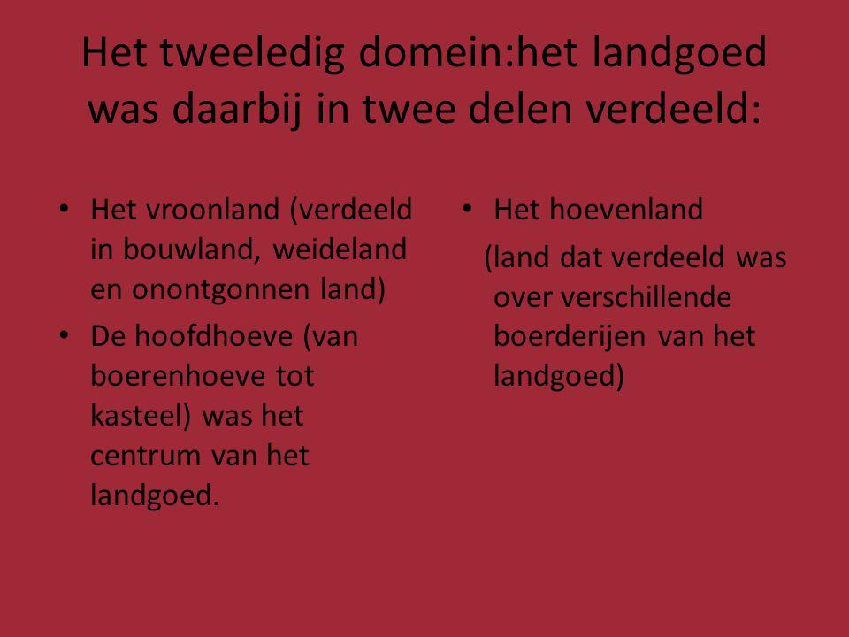 Het tweeledig domein:het landgoed was daarbij in twee delen verdeeld: