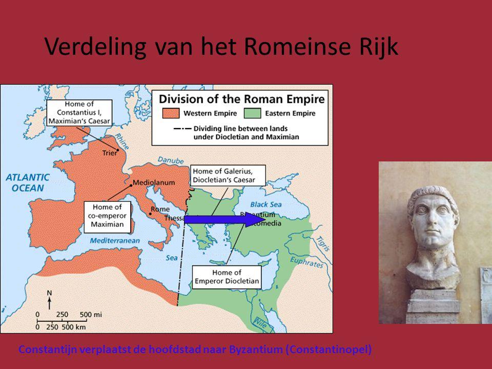 Verdeling van het Romeinse Rijk