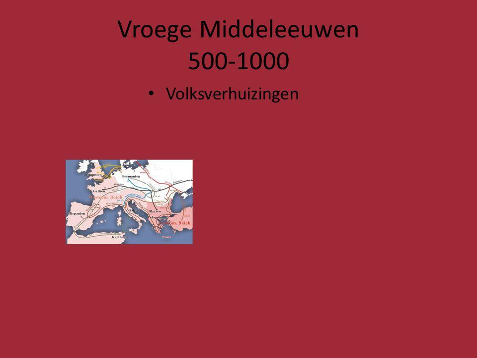 Vroege Middeleeuwen 500-1000 Volksverhuizingen