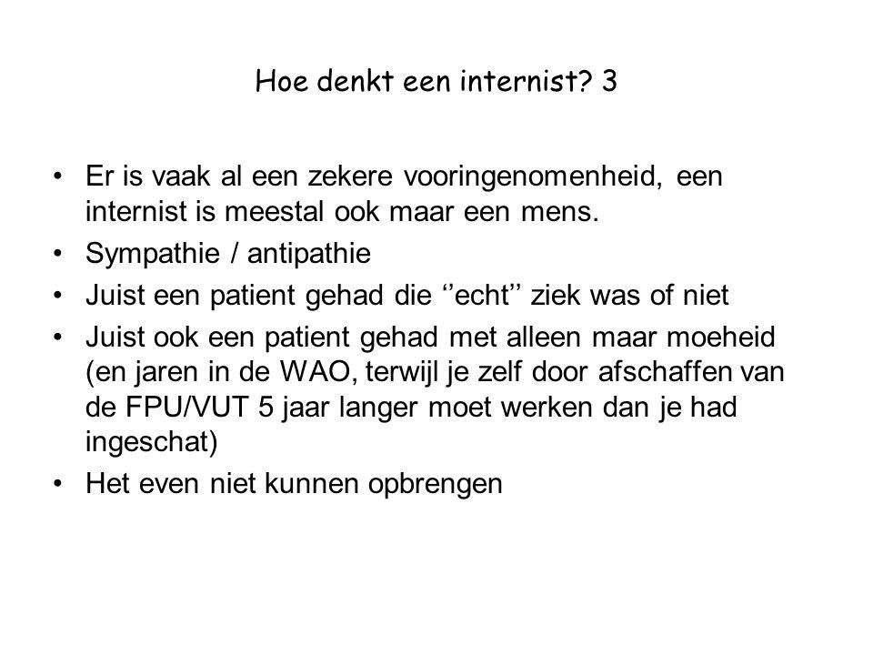 Hoe denkt een internist 3