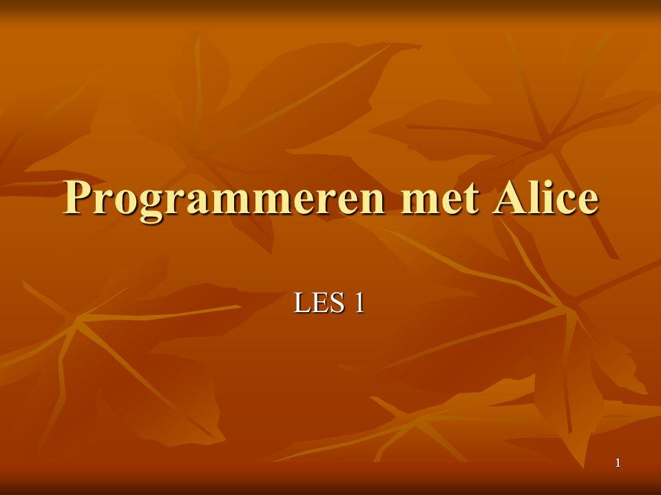 Programmeren met Alice