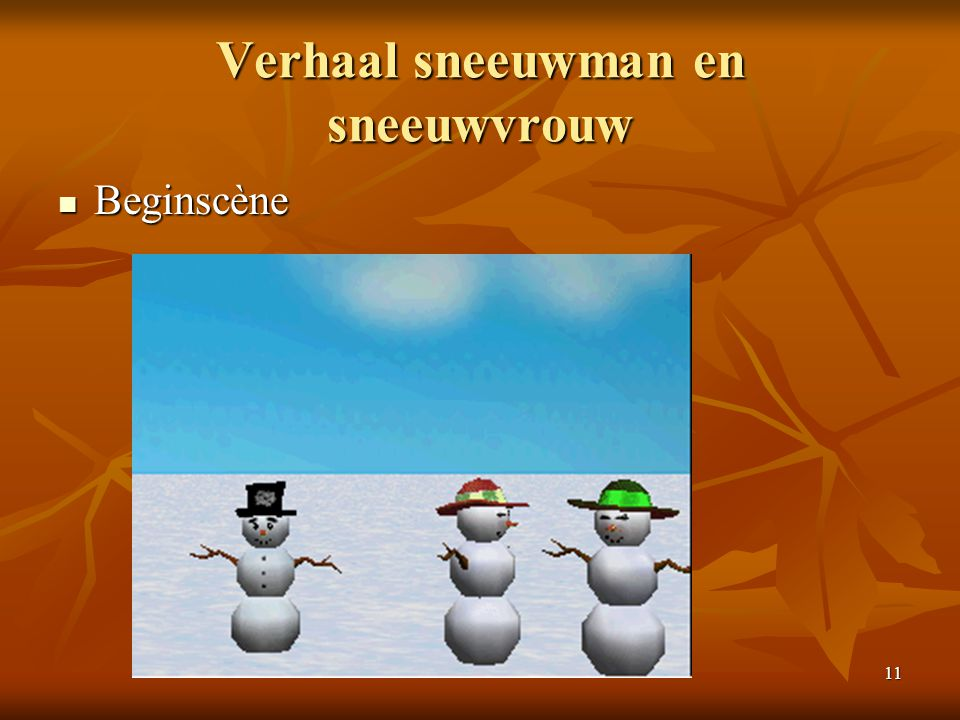 Verhaal sneeuwman en sneeuwvrouw