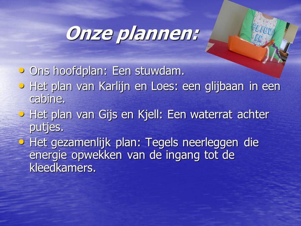 Onze plannen: Ons hoofdplan: Een stuwdam.