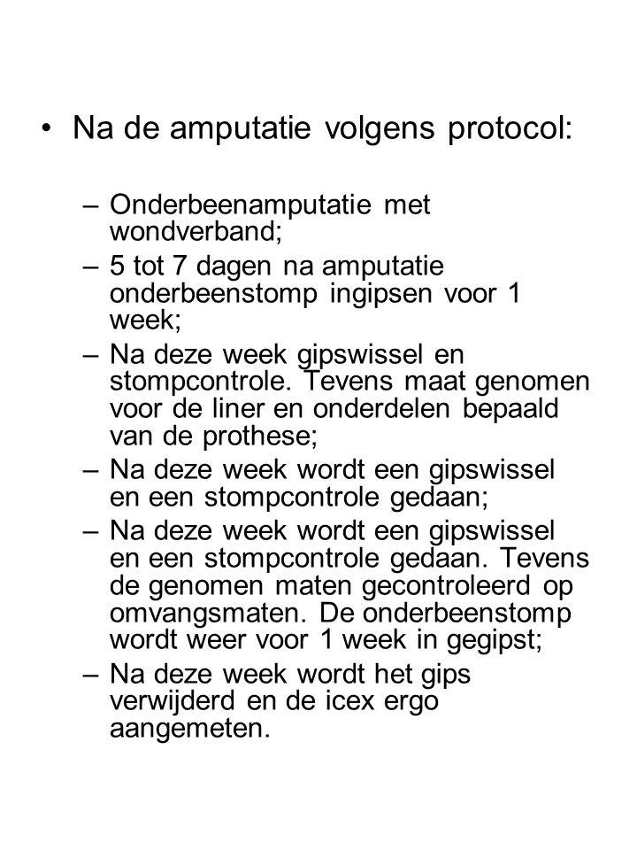 Na de amputatie volgens protocol: