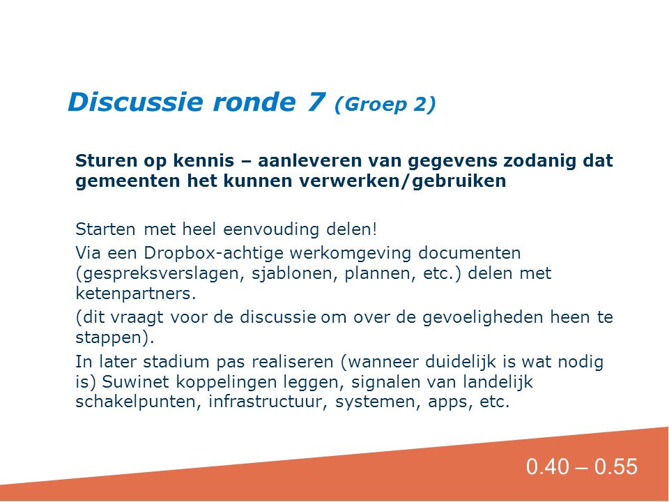 Discussie ronde 7 (Groep 2)