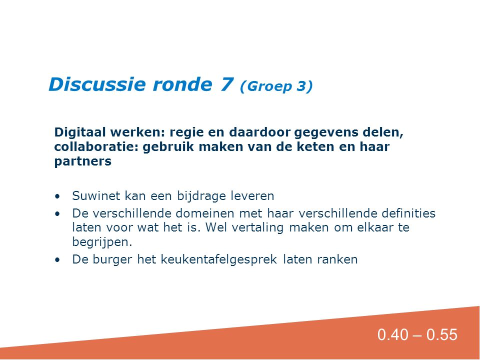 Discussie ronde 7 (Groep 3)