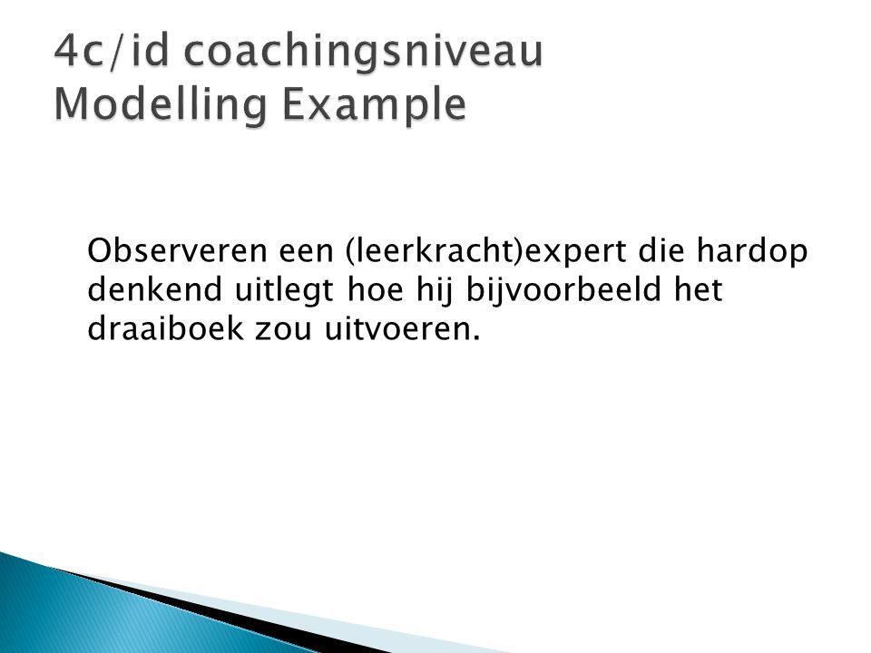 4c/id coachingsniveau Modelling Example