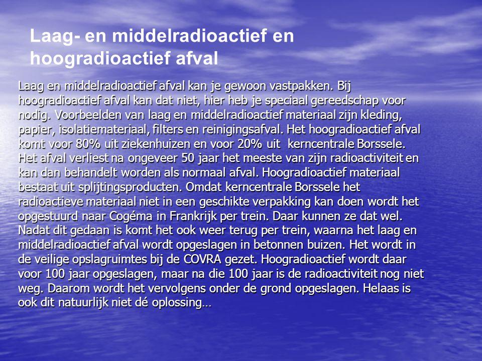 Laag- en middelradioactief en hoogradioactief afval