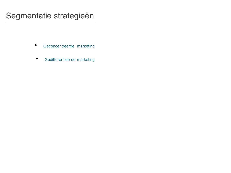 Segmentatie strategieën