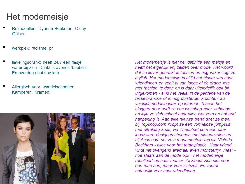 Het modemeisje Rolmodellen: Dyanne Beekman, Olcay Gülsen