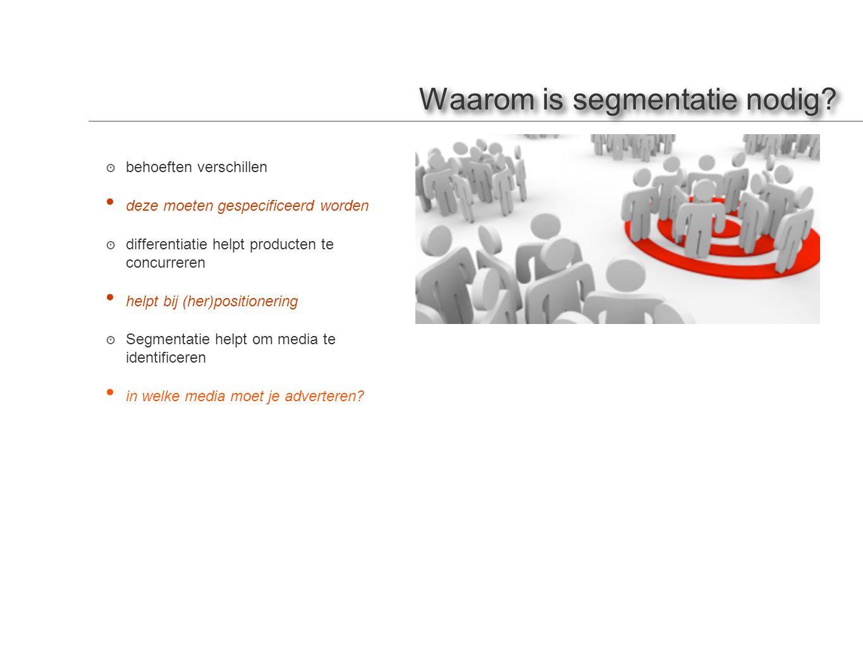 Waarom is segmentatie nodig