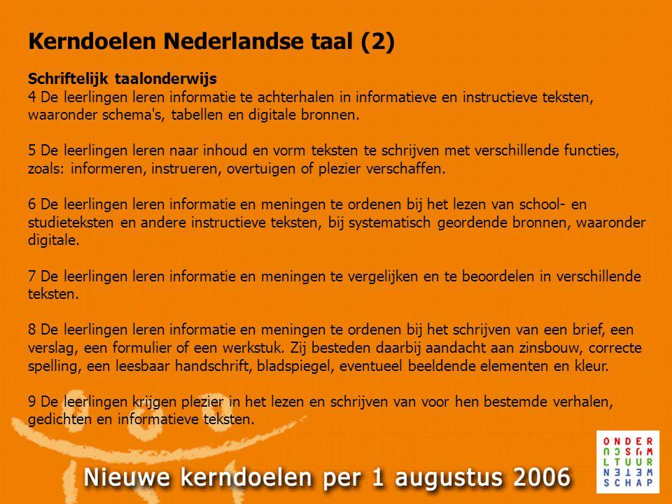 Kerndoelen Nederlandse taal (2)