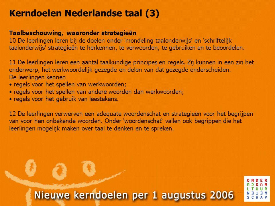 Kerndoelen Nederlandse taal (3)