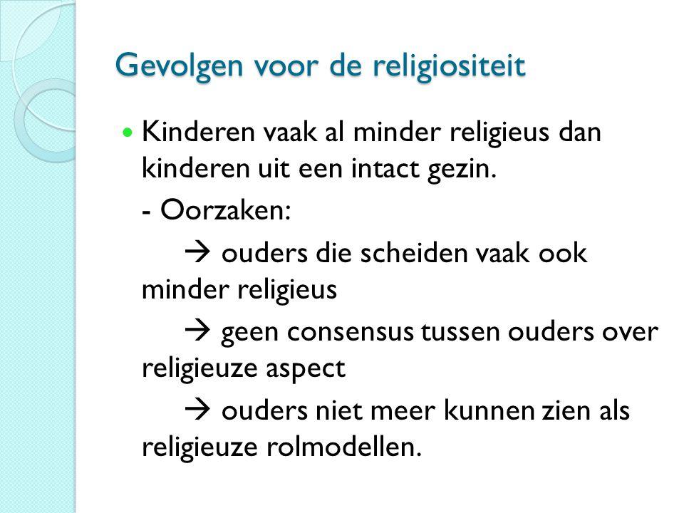 Gevolgen voor de religiositeit