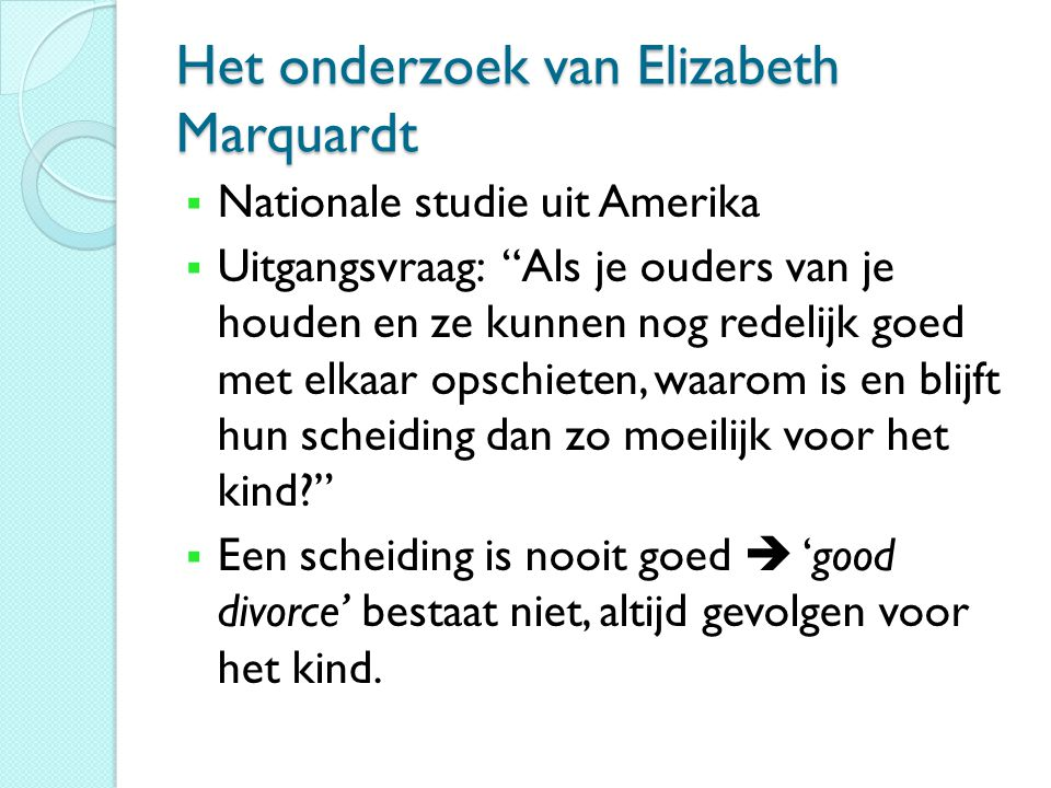 Het onderzoek van Elizabeth Marquardt