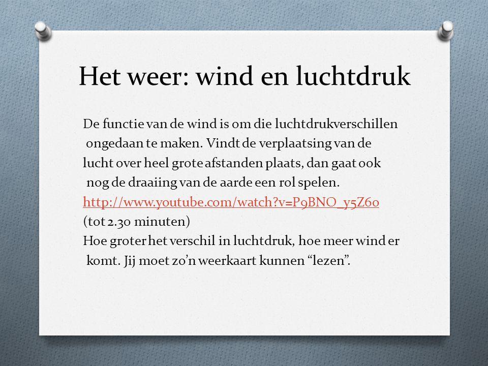Het weer: wind en luchtdruk