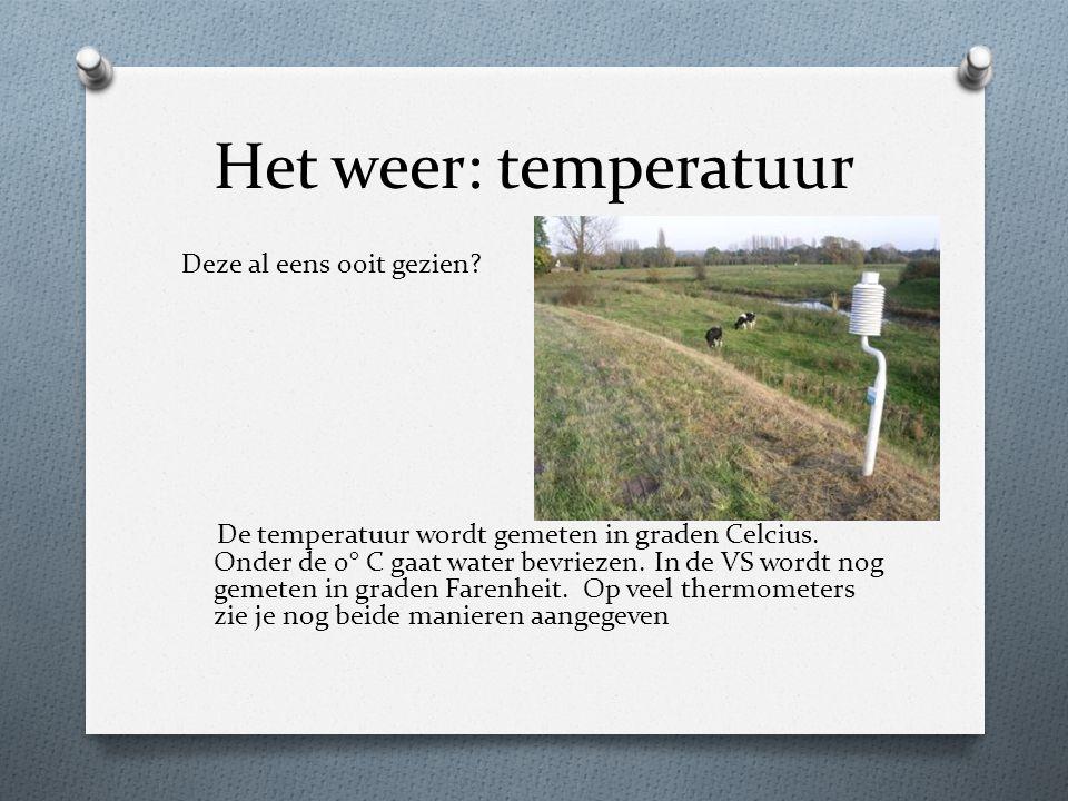 Het weer: temperatuur