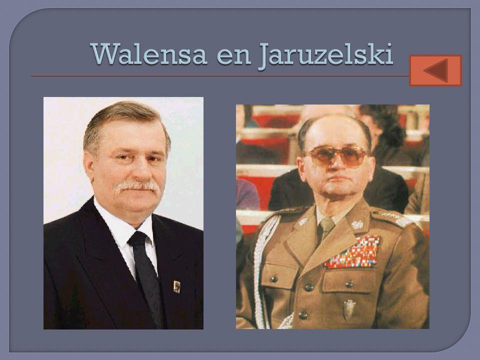 Walensa en Jaruzelski