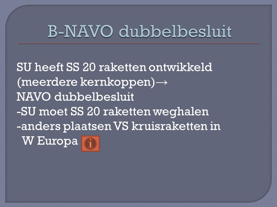 B-NAVO dubbelbesluit