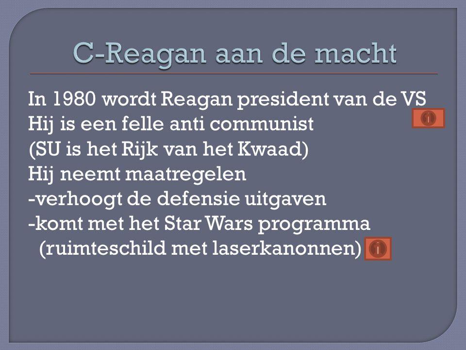C-Reagan aan de macht