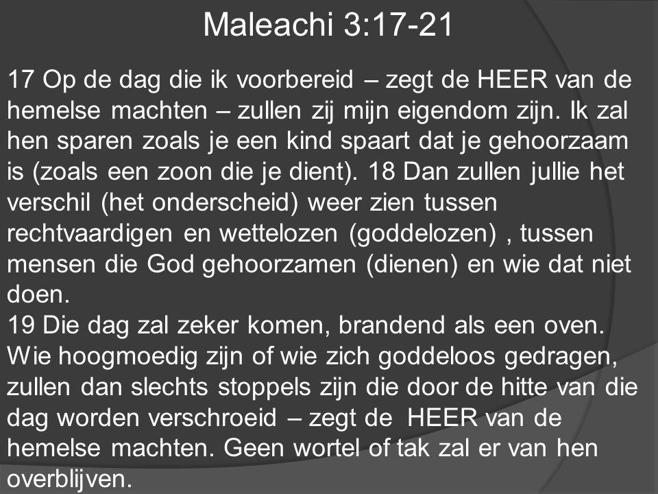 Maleachi 3:17-21
