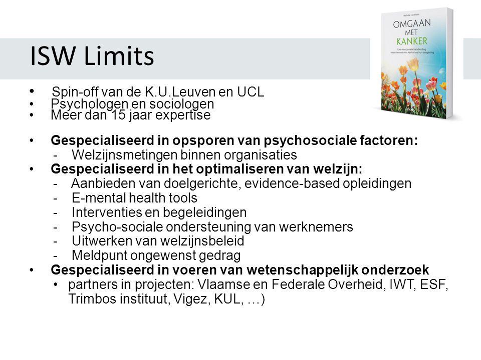 ISW Limits Spin-off van de K.U.Leuven en UCL Psychologen en sociologen