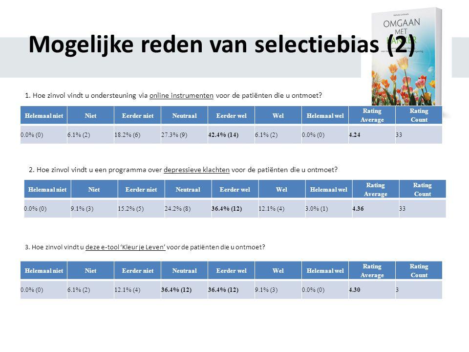 Mogelijke reden van selectiebias (2)