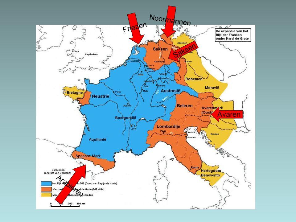 Noormannen Friezen Saksen Avaren Arabieren