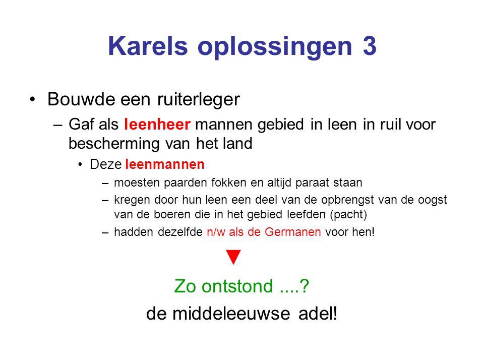 Karels oplossingen 3 ▼ Bouwde een ruiterleger Zo ontstond ....