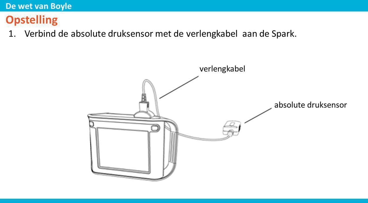 Opstelling Verbind de absolute druksensor met de verlengkabel aan de Spark.