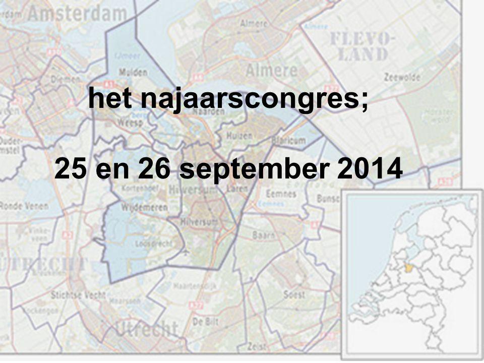het najaarscongres; 25 en 26 september 2014