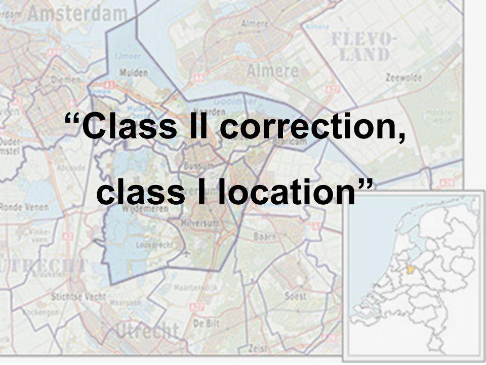Class II correction, class I location