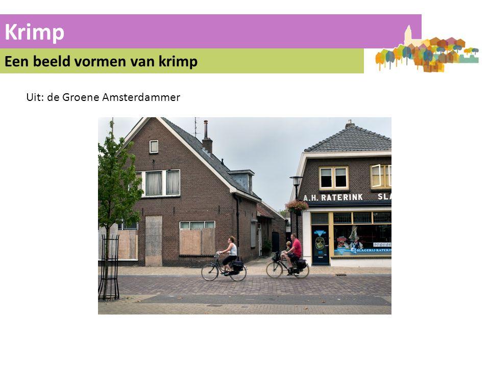 Krimp Een beeld vormen van krimp Uit: de Groene Amsterdammer 14