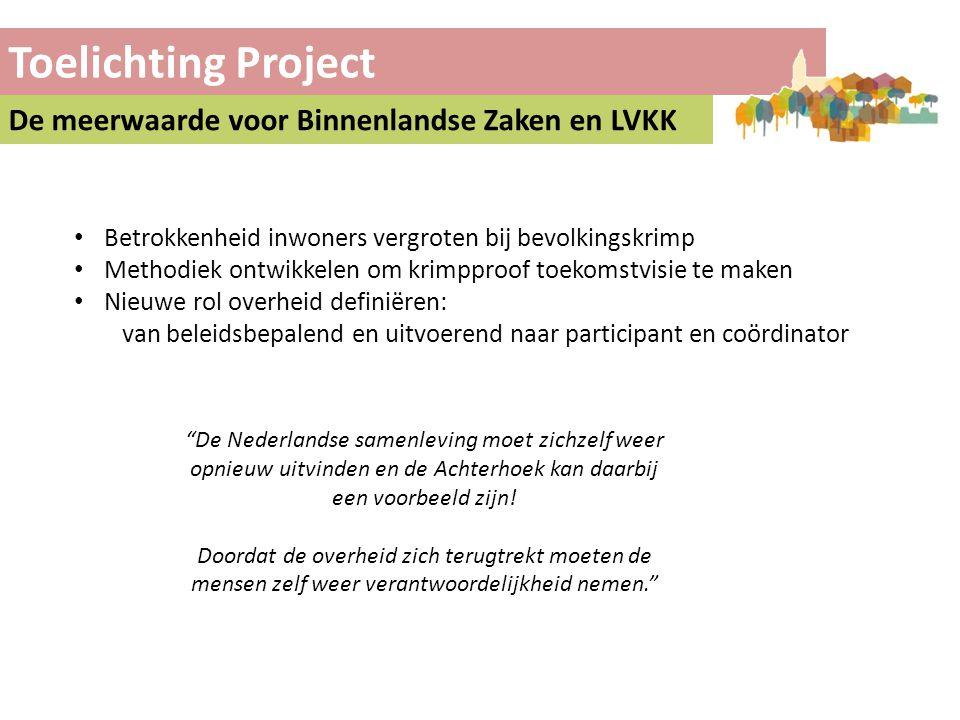 Toelichting Project De meerwaarde voor Binnenlandse Zaken en LVKK