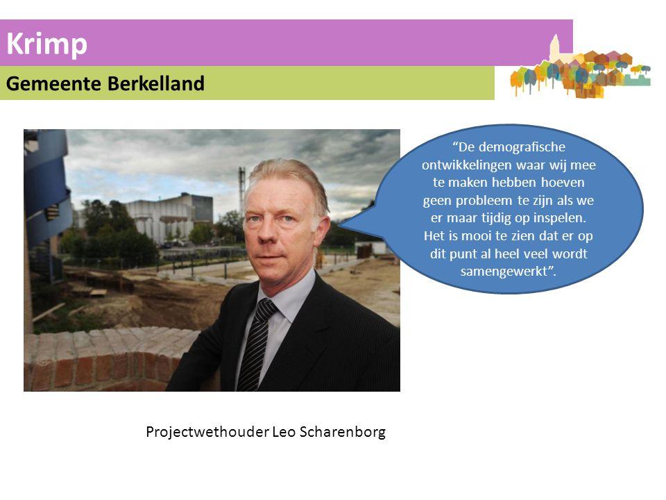 Krimp Gemeente Berkelland Projectwethouder Leo Scharenborg